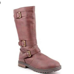 143 Girl Women's 'Katie' Brown Boots Buckle Detail